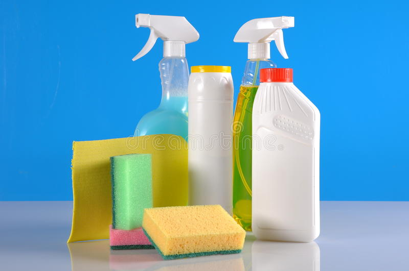 House cleaning theme stock image