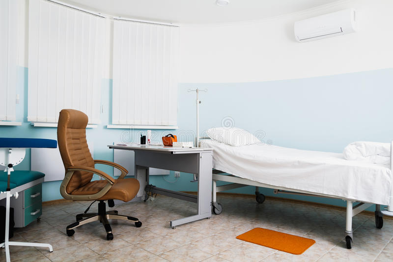 House in the clinic. Doctor's office. Workplace therapist. House in the clinic. Doctor's office. Workplace therapist royalty free stock images