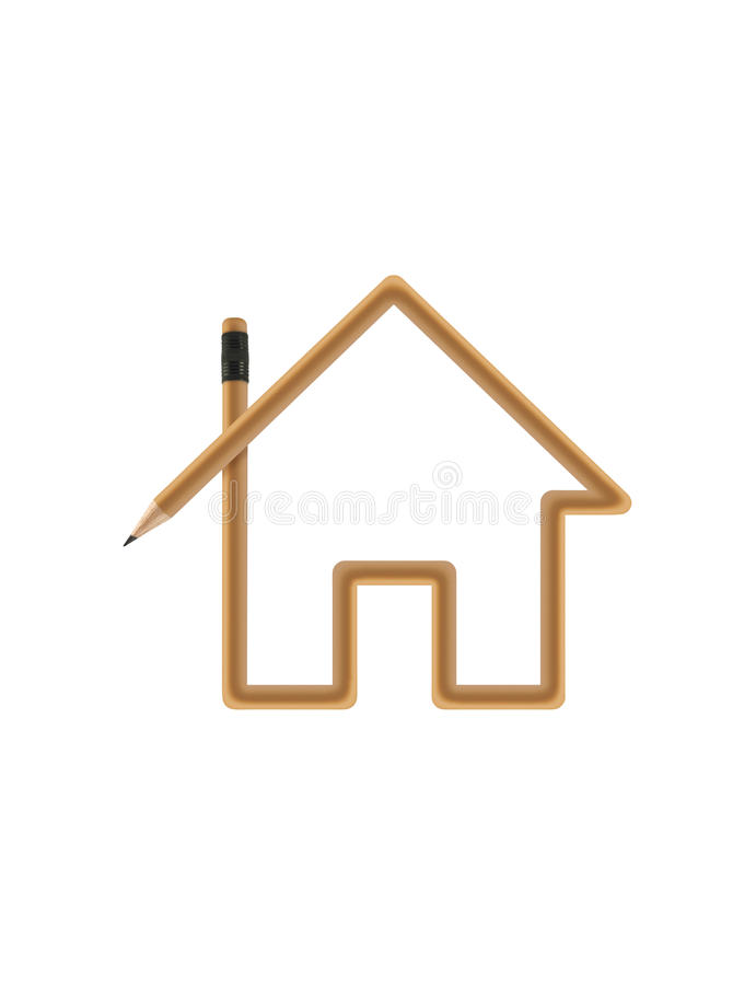 Download House with clipping path stock image. Image of icon, architecture - 15102631