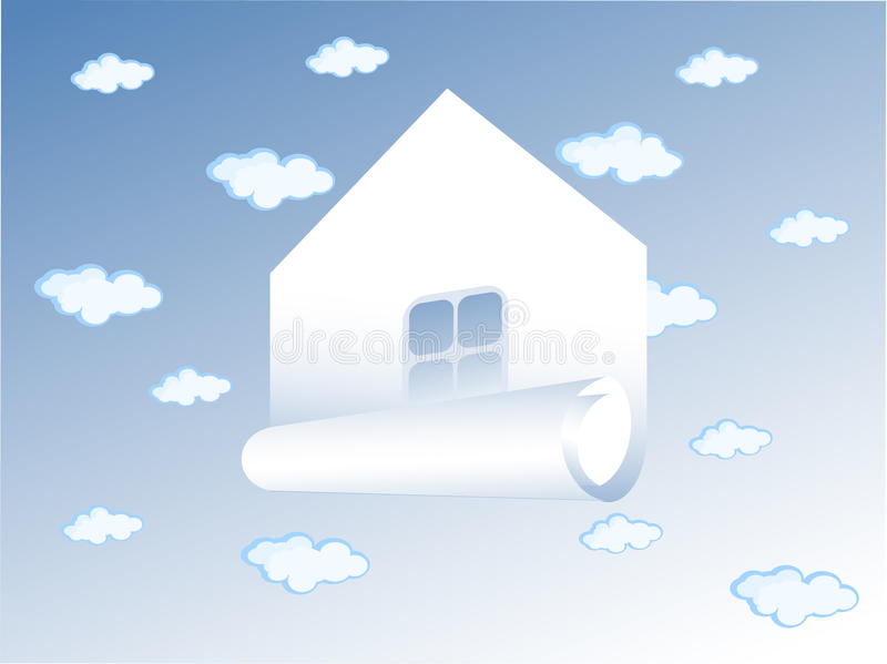 House In The Clouds Stock Images