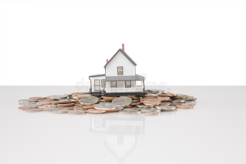 House on Coins royalty free stock photo