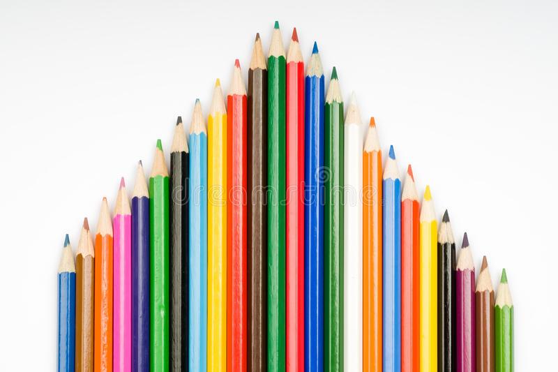 House from color pencils royalty free stock photography