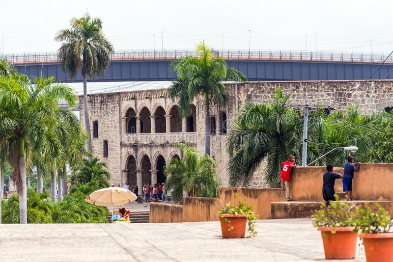 The house of Columbus, the first stone building built in Santo Domingo, Dominican Republic. Copy space for text. stock photo