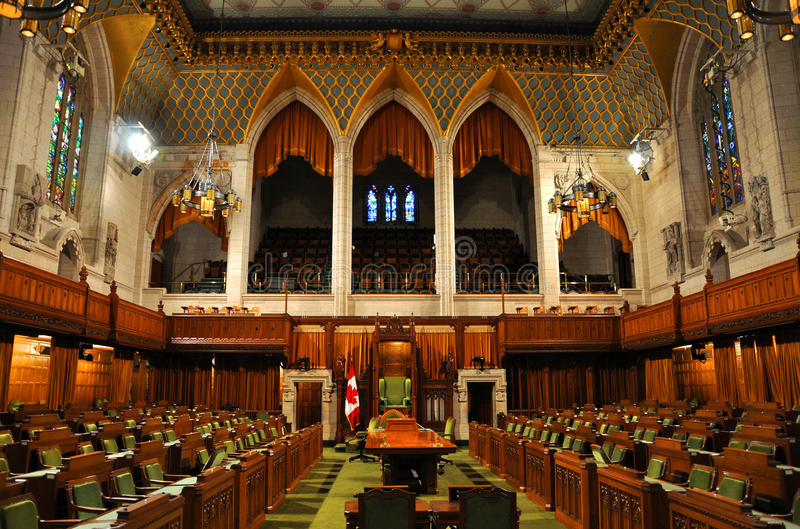 House Of Commons Of Parliament Ottawa Canada Stock Photo