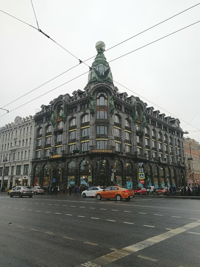 House of the company Singer in St. Petersburg stock photography