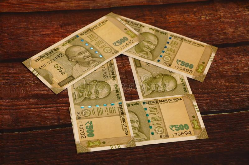 House - Indian Currency. House concept. House made with Indian currency banknotes stock photos