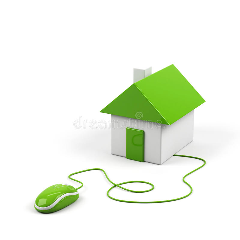 Download House Connected To A Computer Mouse. Stock Illustration - Image: 12028304