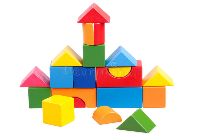 House Constructed Of Blocks Stock Image