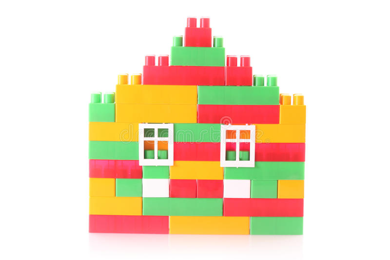 Download House Constructed From Toy Bricks Isolated Stock Image - Image: 11023915
