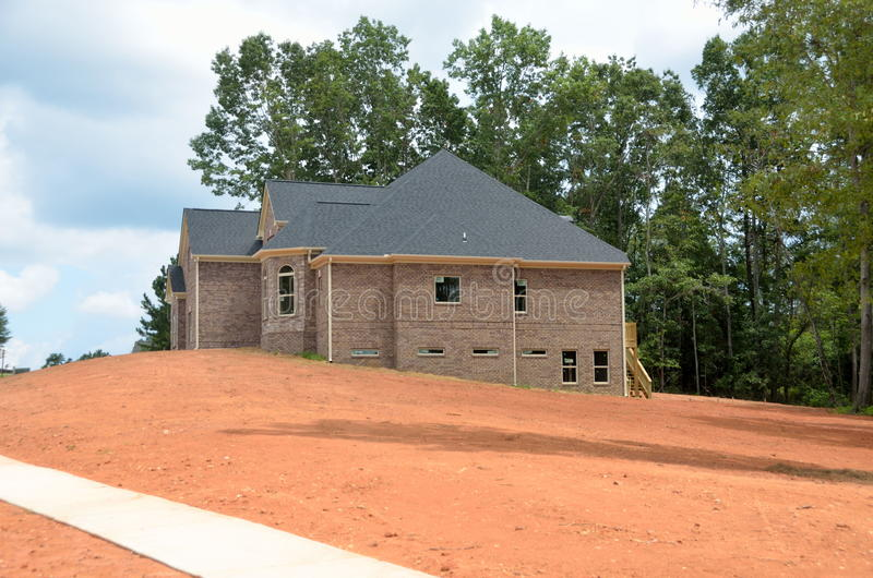 House during construction. House being constructed in Bogart, Georgia, USA stock images