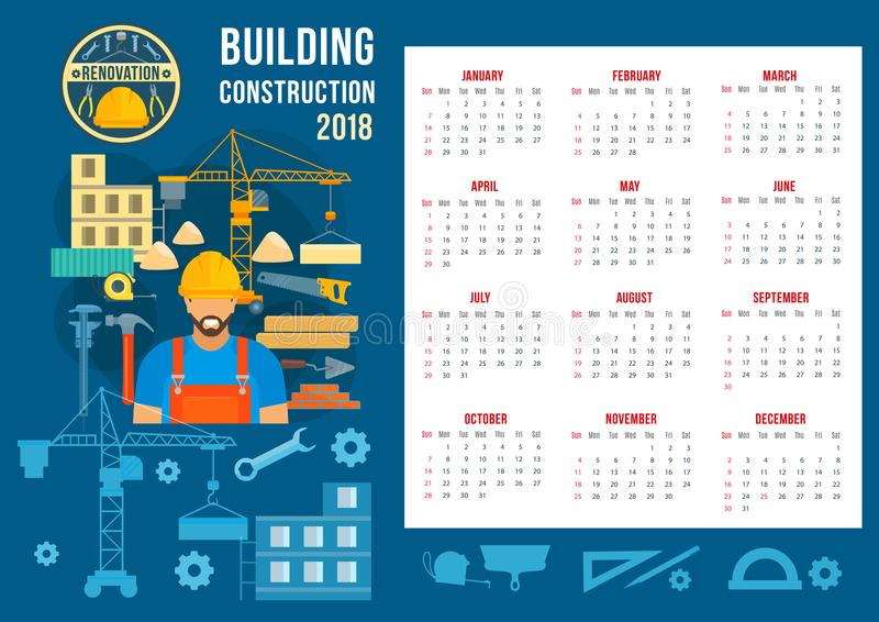 Vector Poster For Home Building Construction Stock Vector
