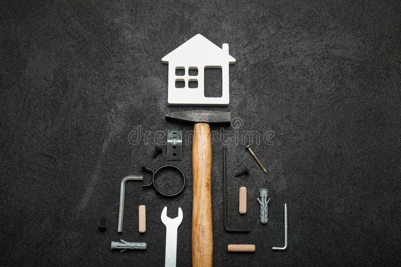 House construction, home tools concept.  royalty free stock image