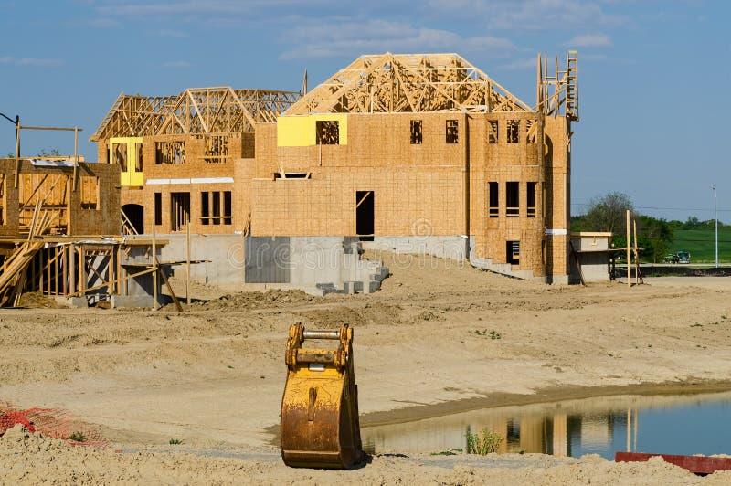 House construction site stock photos