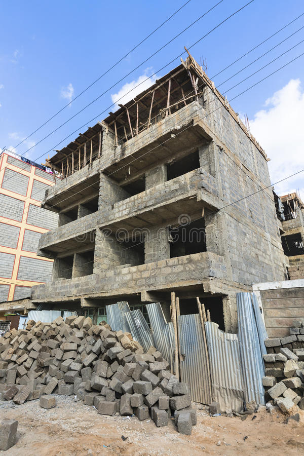 Download House Construction Site In Nairobi, Kenya Stock Image   Image Of  Village, District