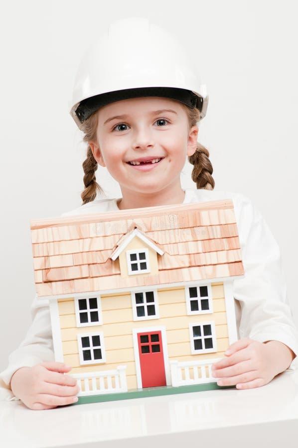 House constructor royalty free stock photos