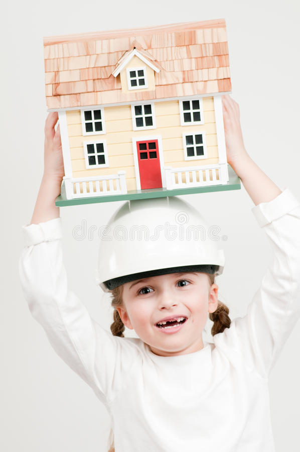 House constructor stock image
