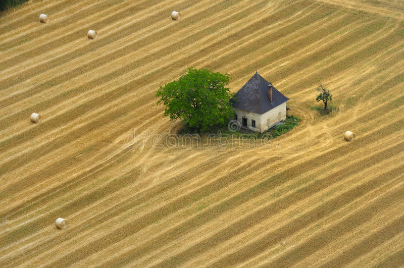 House in a Cornfield royalty free stock images