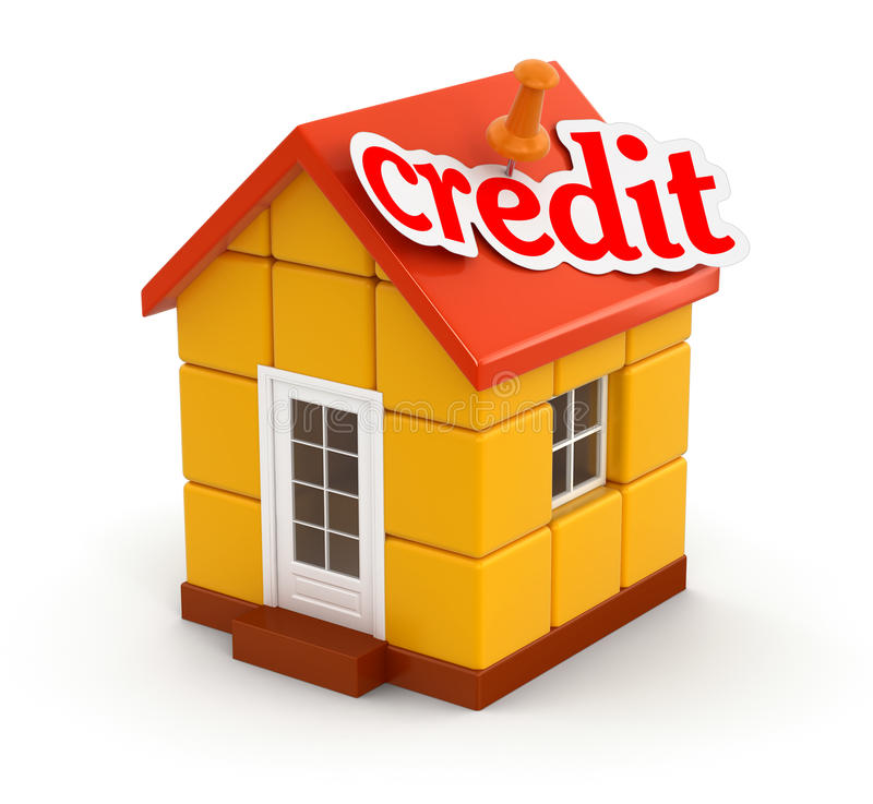 Download House And Credit (clipping Path Included) Stock Illustration - Illustration: 34267661
