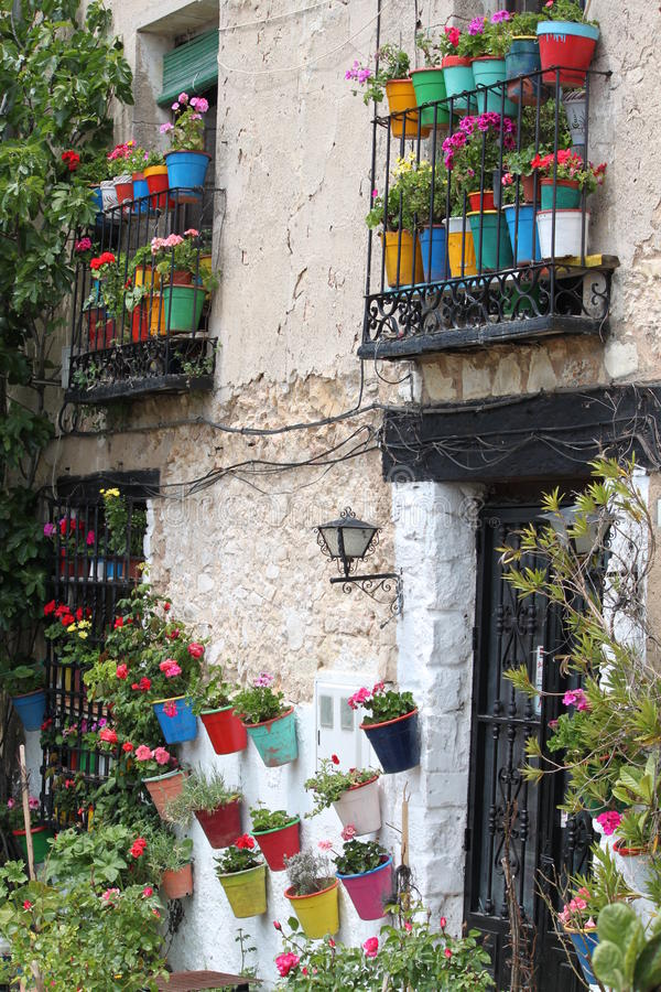 House in Cuenca, Spain stock images
