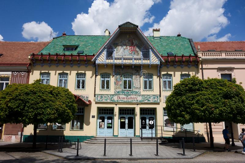 House of Culture in Skalica, Slovakia stock photography