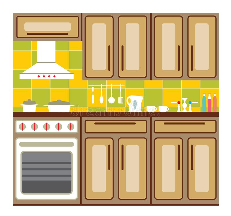 House in a cut. Which depicts the living rooms royalty free illustration