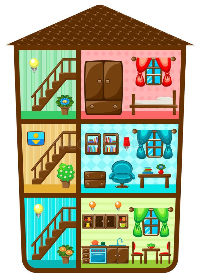 Download House in a cut stock vector. Illustration of design, frame - 40454942