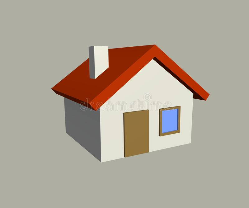 House 3D Render. House and Appartment. Symbol of real estate , home vector illustration