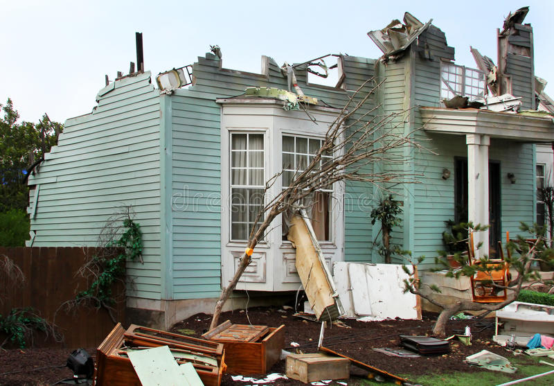 Download House damaged by disaster stock image. Image of insurance - 25589227