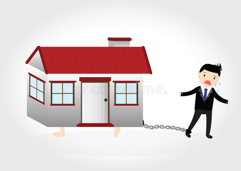 House Debt royalty free stock images