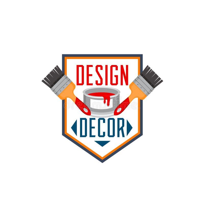 Home Decor Paint Brush Interior Design Vector Icon Stock Vector Illustration Of Bucket Repair 101482244