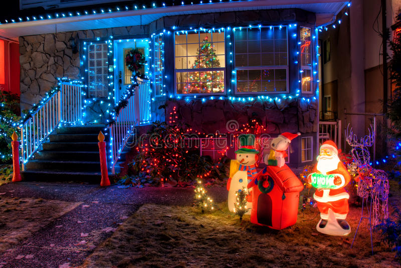 Download House Decorated With Christmas Lights Stock Image - Image of holiday, december: 26818321