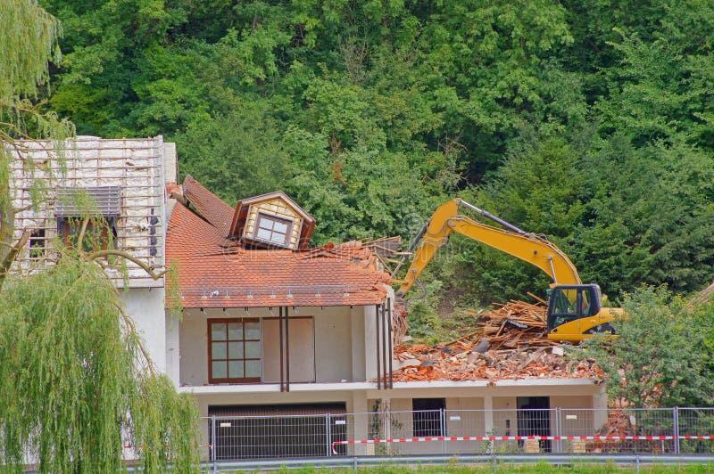 House Demolition Stock Photos