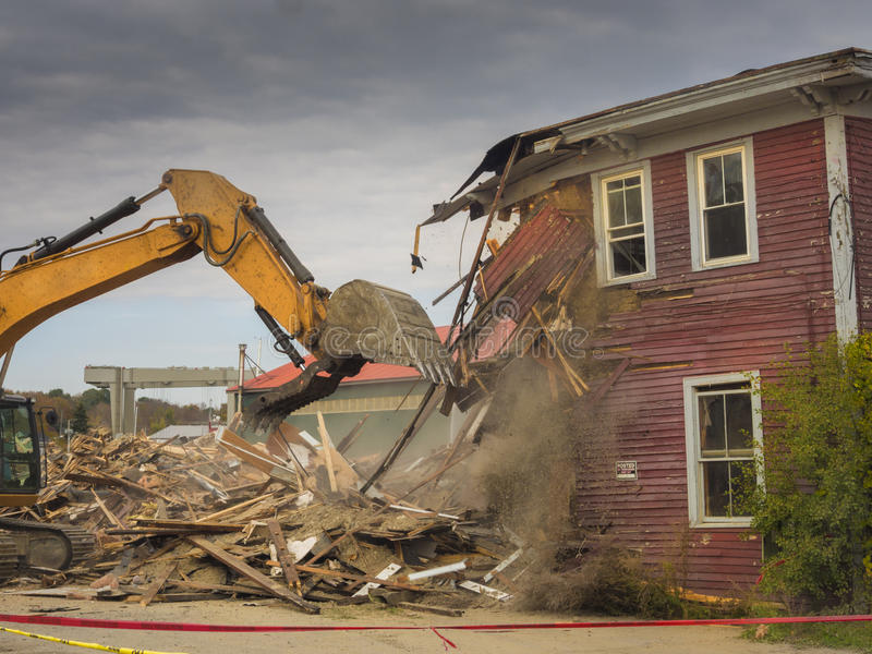House demolition royalty free stock photos