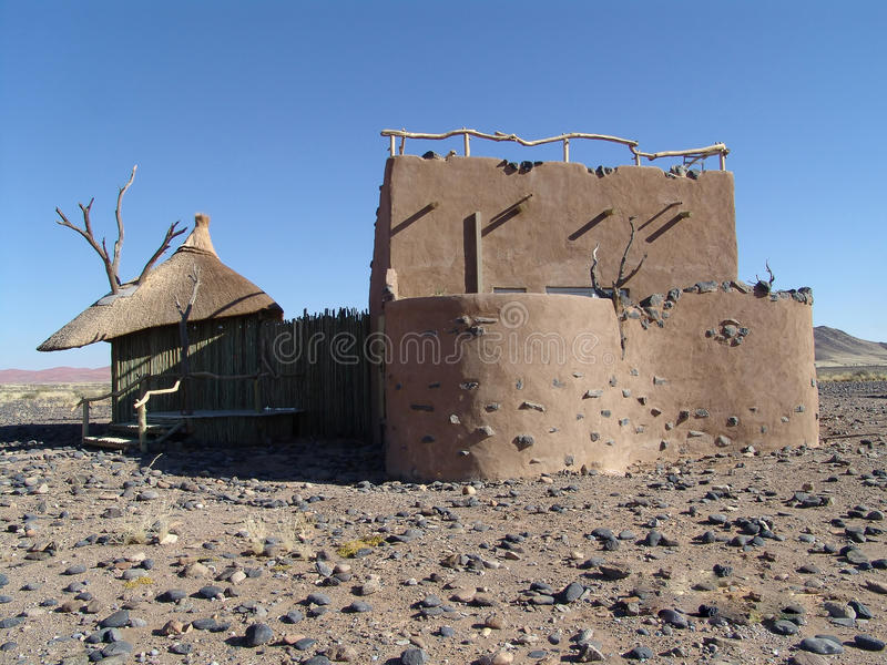House in the desert. Human estate royalty free stock image