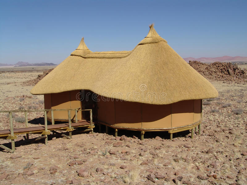 House in the desert. Human estate stock image