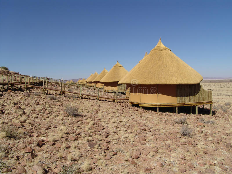 House in the desert. Human estate royalty free stock photo