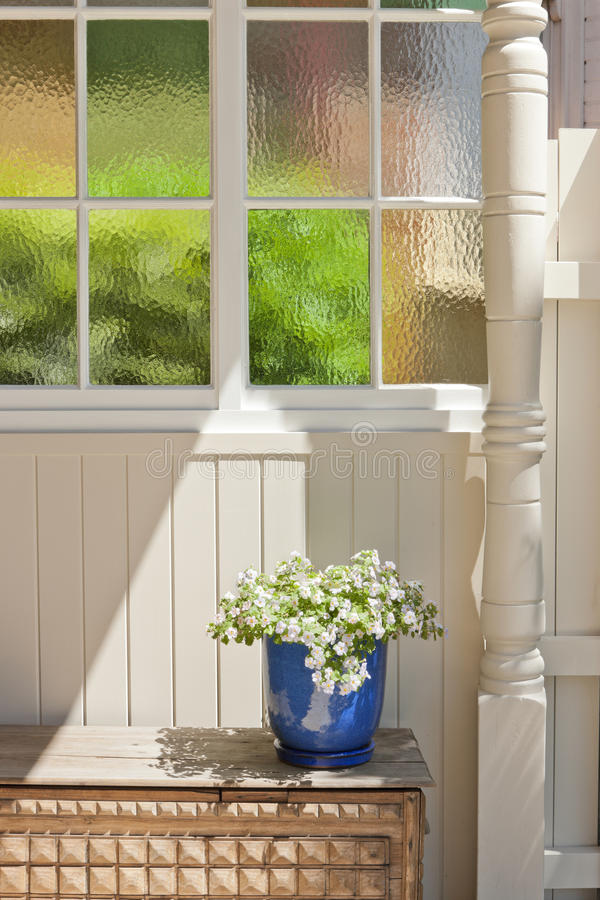 Download House Detail Stained Glass Window Stock Photo - Image: 33584472
