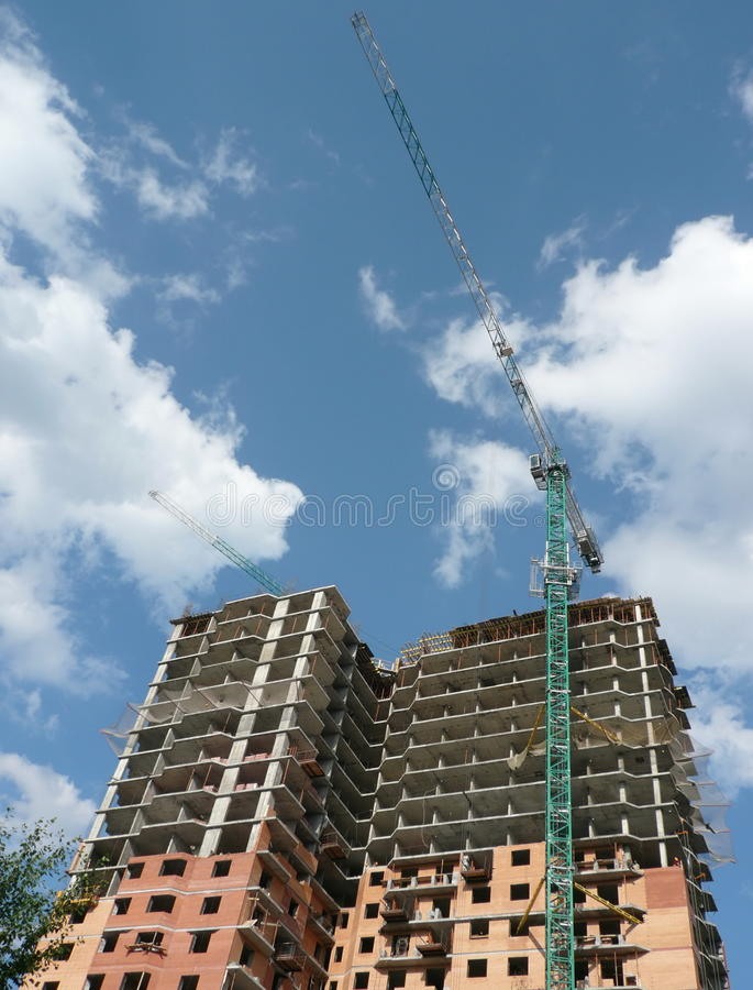 Download House Develop With Crane Tower Stock Photo - Image: 16205014