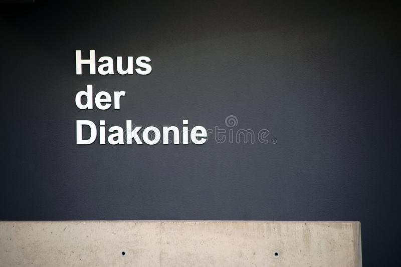 House of Diakonia. The House of Diakonia, a Christian retirement home and nursing home stock images