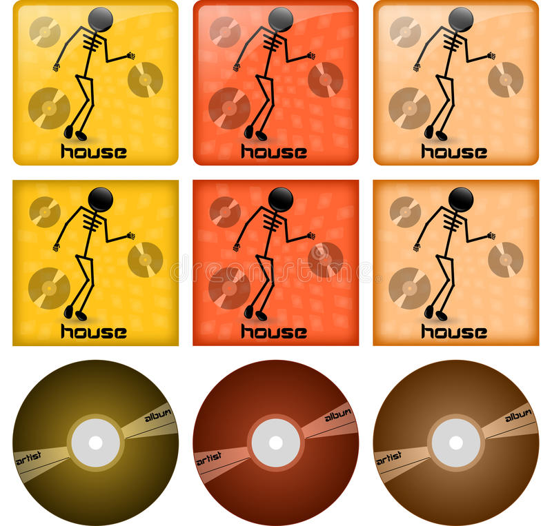 Download House disc covers stock vector. Image of music, sound - 24059428