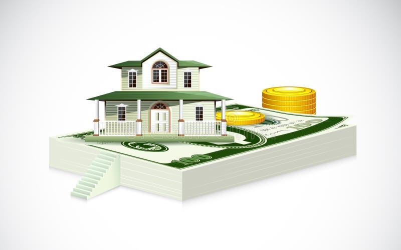 House on Dollar Note stock illustration