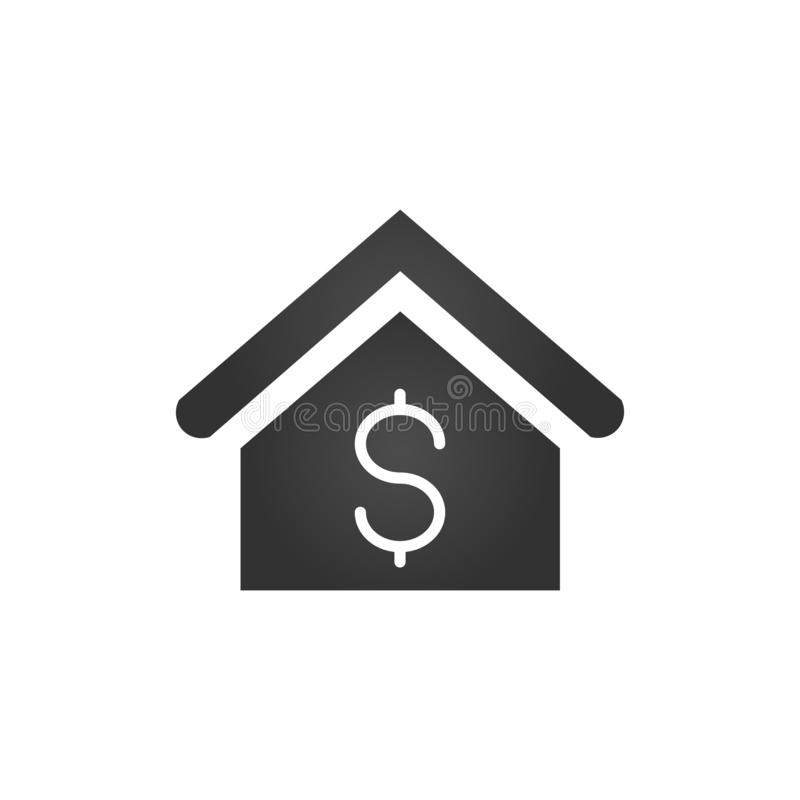 House with dollar sign icon. Real estate, property sell symbol, logo illustration vector illustration