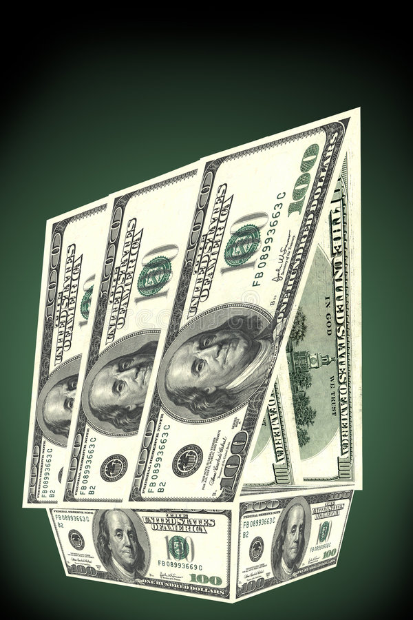 Download House From Dollars Royalty Free Stock Images - Image: 4666039