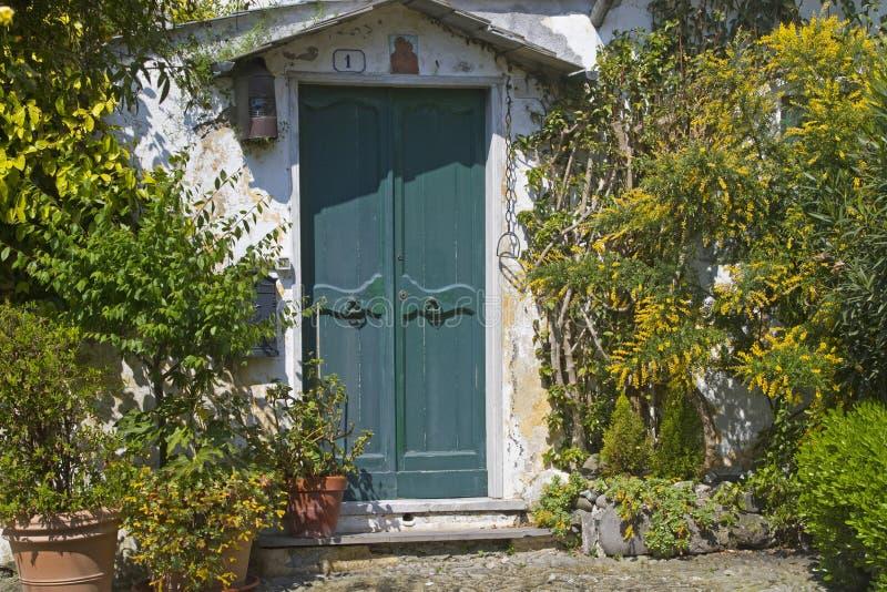 Download House door in Liguria stock photo. Image of wall, wood - 23307140