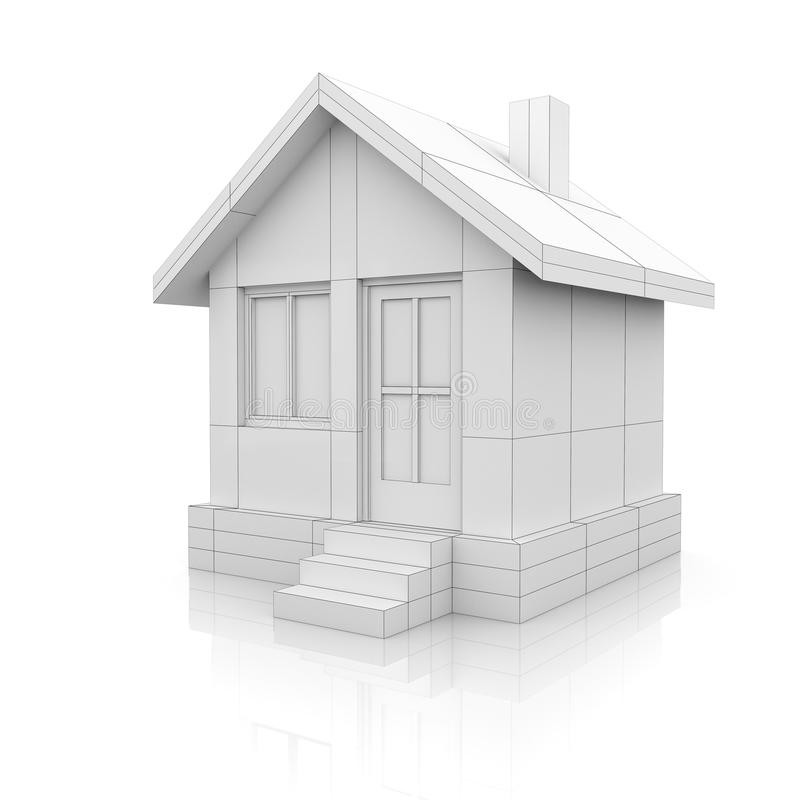 House in drawing style stock illustration