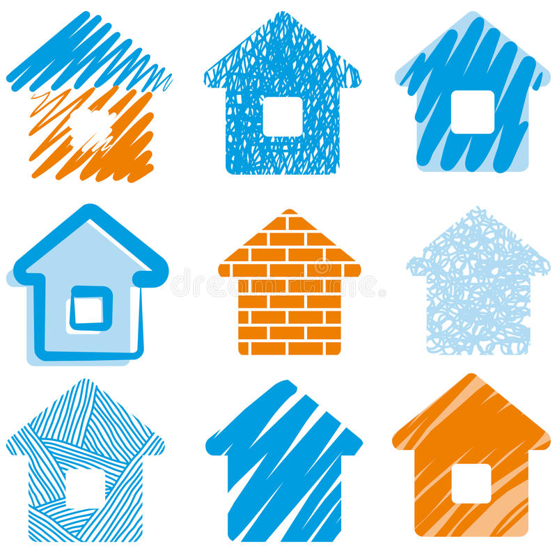 House drawings vector illustration
