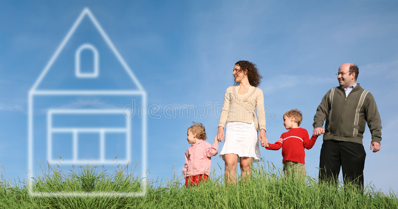 House of dream stock photography