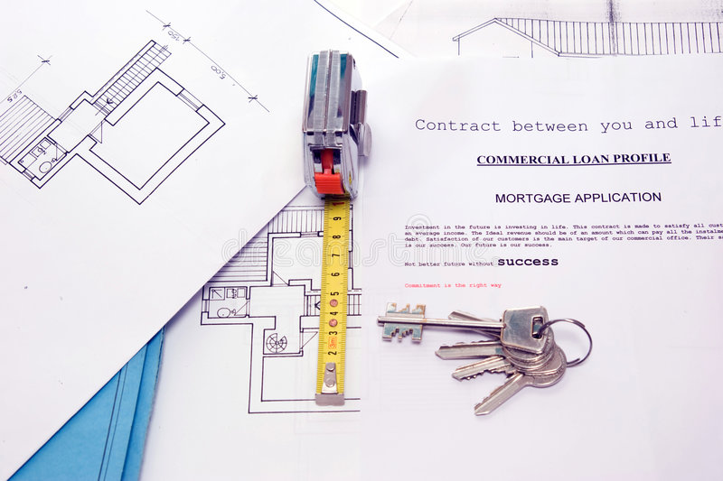 House dream. A project to build a new house on a table of an house builder stock images
