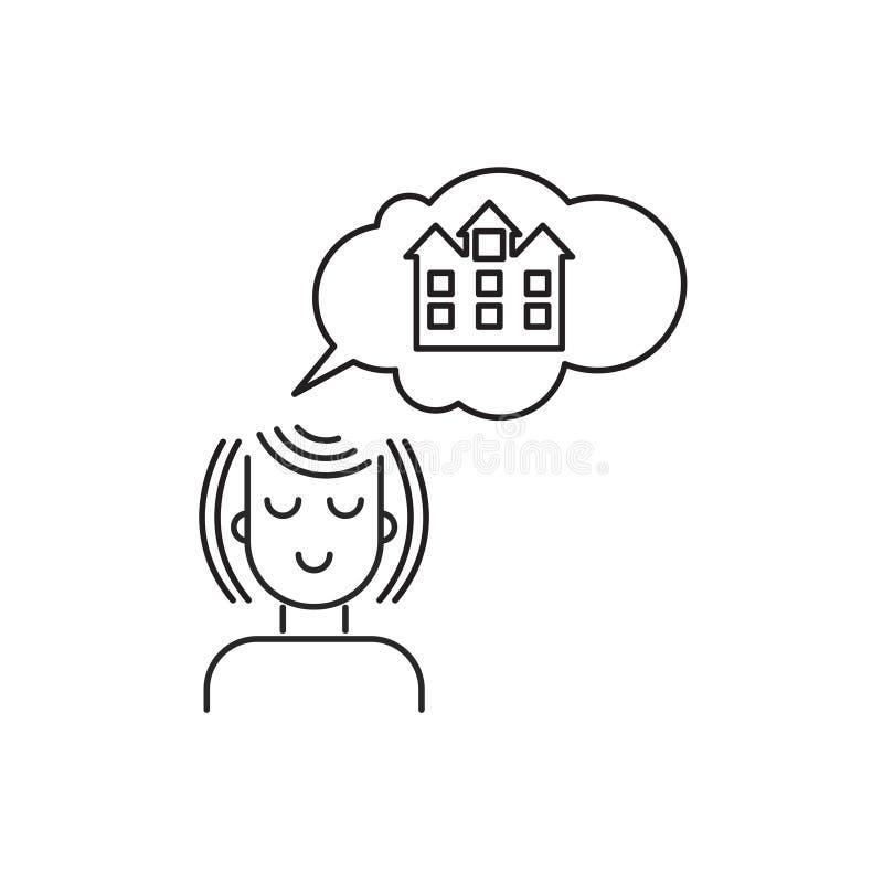 House dream icon royalty free illustration