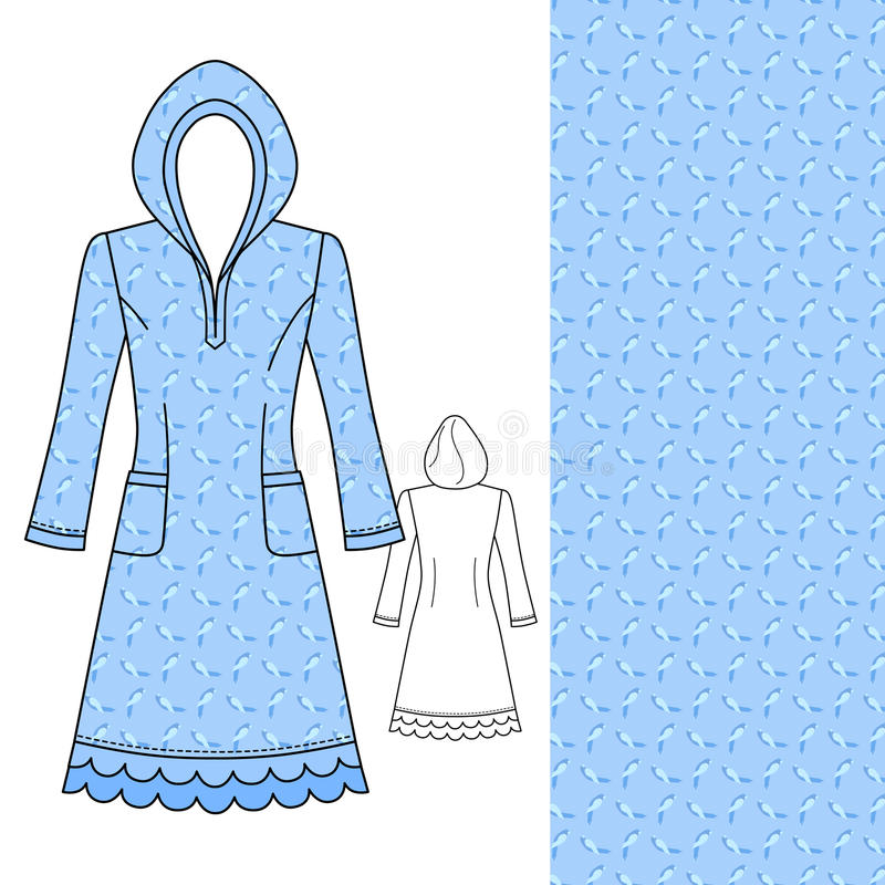House dress, nightdress front view royalty free illustration